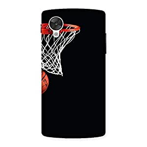 Delighted Basket Ball Multicolor Back Case Cover for Google Nexsus 5