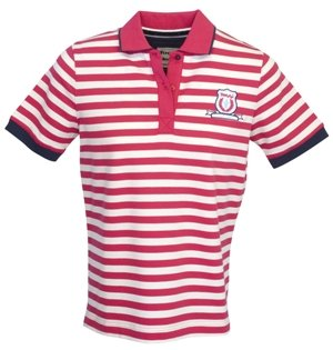 Toggi Stripey Polo Shirt (Cherry Stripe,14)