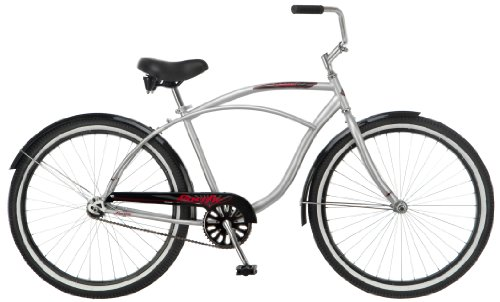 Pacific Men's Oceanside Cruiser Bicycle (26-Inch Wheels), Silver, 18-Inch
