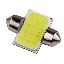 GCT WHITE 12 Chips COB LED 31mm Car Panel interior Roof Light / Dome Reading Lamp / Festoon for Cars