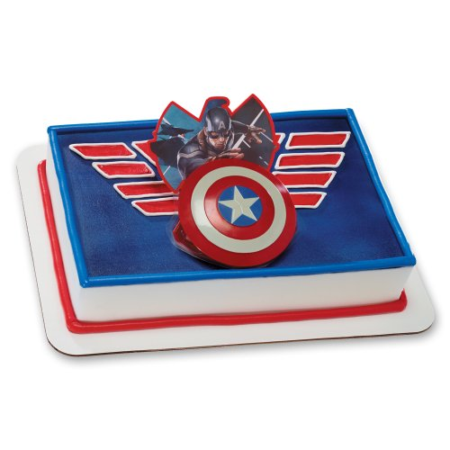 Decopac Captain America Shield Ring DecoSet Cake Topper - 1