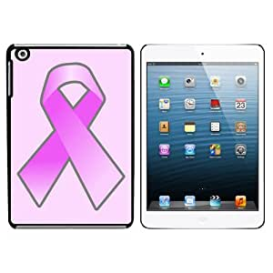 Breast Cancer Awareness Pink Snap On Hard Protective Case for Apple iPad Mini - Black