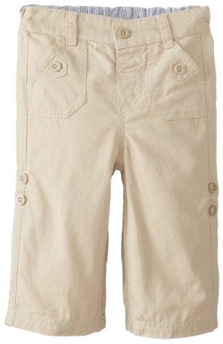 Jojo Maman Bebe Baby-Boys Newborn Twill Turn-Up Trousers, Stone, 6-12 Months front-928879