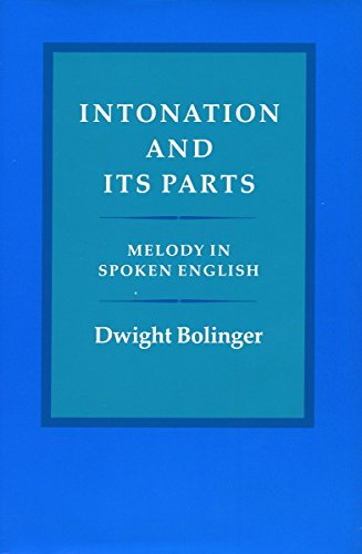 Intonation and Its Parts: Melody in Spoken English (Phonetics Diagram compare prices)