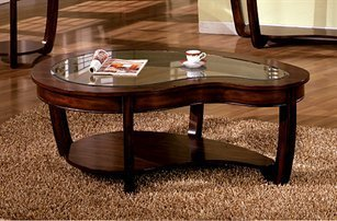 Abnormity Coffee Table with Glass Top