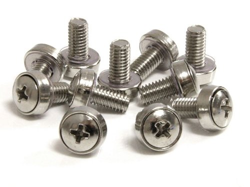 StarTech 50 Pkg M6 Mounting Screws for Server Rack Cabinet