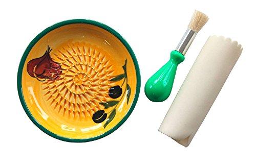 JOSKO-Produkte-2722-Aroma-Reibeteller-Set-Reibeteller-Set-3-Einheiten-keramik-gelb-128-x-128-x-2-cm