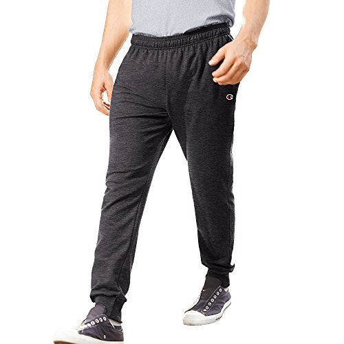 Champion Menâ€s French Terry Jogger Pants_Granite Heather_M