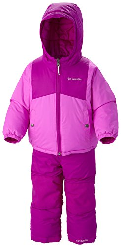 Columbia Baby-Girls Infant Double Flake Set, Bright Plum/Foxglove, 18-24 Months