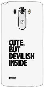 Snoogg Cute But Devilish Inside Designer Protective Back Case Cover For LG G3