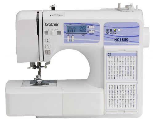 New Brother HC1850 Computerized Sewing and Quilting Machine with 130 Built-in Stitches, 9 Presser Feet, Sewing Font, Wide Table, and Instructional DVD