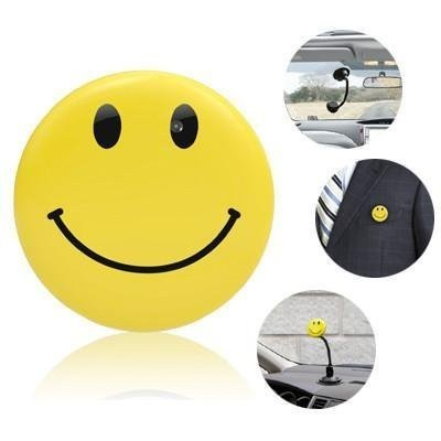 BoddBan® smiley Badge spy Camera HD High Resolution Yellow Mini DV Smile Face Badge Spy Camera + MP3 Player (DVR & MP3) Function - Sport HD Car DVR Spy Camera - Voice & Video Recorded with in built MP3 Player