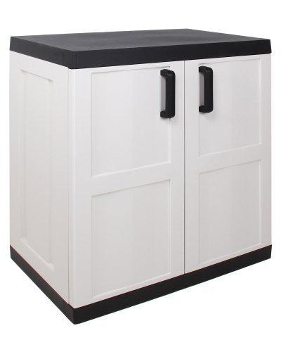 kunststoffschrank beistellschrank comfort xl grau. Black Bedroom Furniture Sets. Home Design Ideas