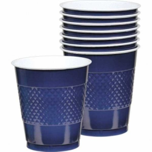 Navy Blue Plastic Cups 20ct