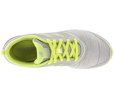 888098214116 - New Balance Women's 711 Heather Cross-Training Shoe,Grey/Yellow,11 B US carousel main 0