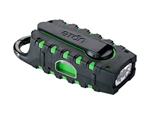 Etón SCORPION NSP100GR Multi-Purpose Solar Powered Digital Weather Radio - Green (NSP100GR)