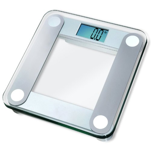 EatSmart Precision Digital Bathroom Scale w Extra Large Backlit 3.5 Display and Step-On Technology [2013 VERSION]