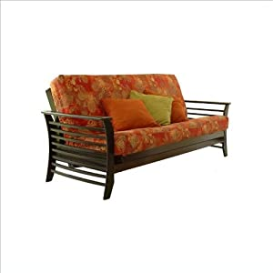 Lifestyle Solutions Fashion Hardwood Dio Futon Frame in Espresso - Full