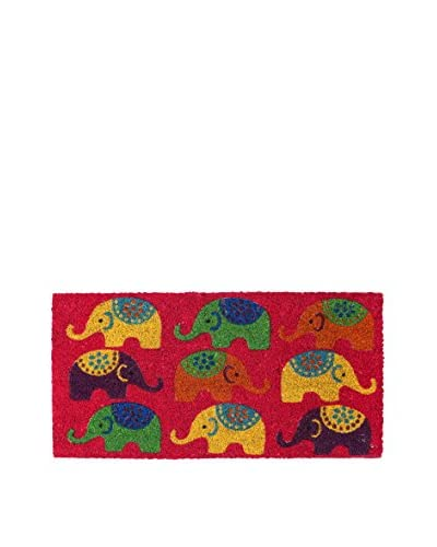 RETRO HOME Felpudo Elephants Multicolor