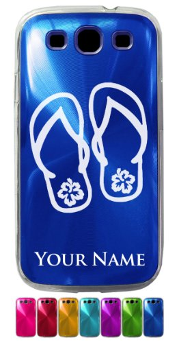 Personalized Case for Galaxy S3 Siii - BEACH SANDALS - Engraved for Free