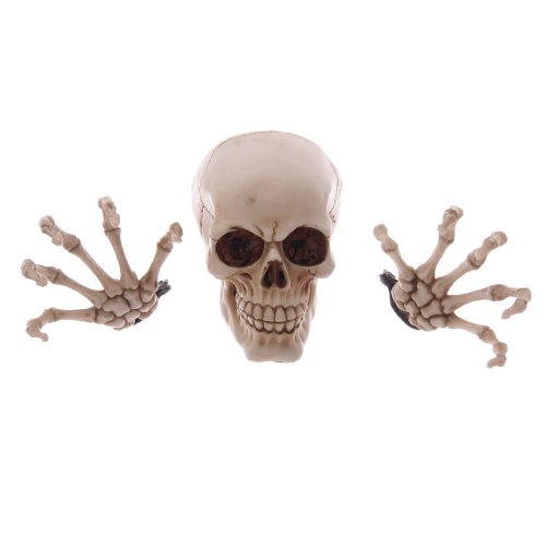 Skull head and hands wall decoration
