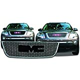 GMC Acadia Chrome Front Grille Insert: Fits 2007, 2008, 2009, 2010, 2011, 2012 GMC Acadia