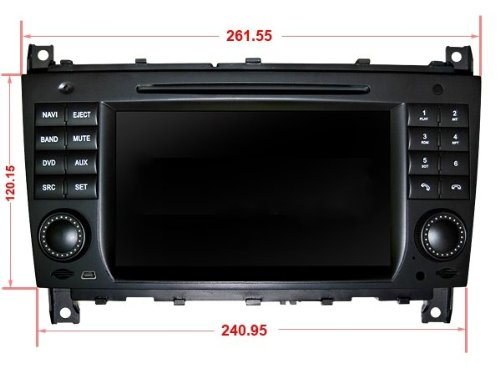 Review for Pioeneer Intelligent In Dash Navigation For Mercedes Benz C Class W203 6-8 Inch Touchscreen Double-DIN Car DVD Player & In Dash Navigation System,Navigator,Build-In Bluetooth,Radio with RDS,Analog TV, AUX&USB, iPhone/iPod Controls,steering wheel control, rear view camera input