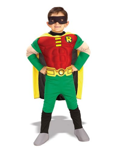 Robin Child Deluxe Md Kids Boys Costume