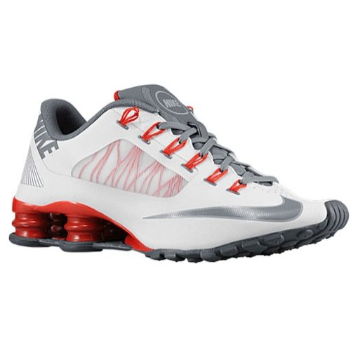 Nike Mens Shox SuperFly R4 Running Shoes White/Wolf Grey/University Red 653480-100 Size 11 (Classic Nike Shox compare prices)