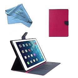 Cubezap Mercury Diary Card Wallet Flip Case Back Cover for Apple iPad 2 3 4 Pink Blue