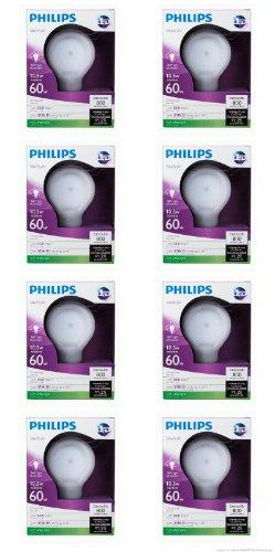 Philips 433227 10.5-Watt Slim Style Dimmable A19 Led Light Bulb, Soft White-(8 Pack)