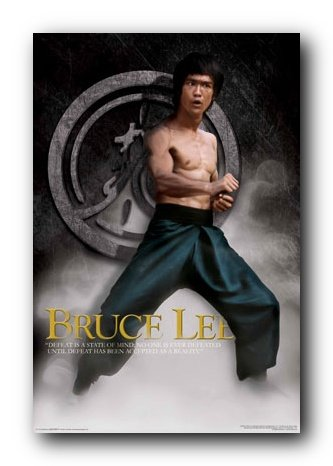 Bruce Lee Poster 24X36 Smoke Stance Martial Art 24775