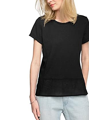 edc by ESPRIT Camiseta Manga Corta (Negro)