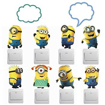 ADB-Inc-Despicable-Me-2-Minions-Movie-Removable-PVC-Decals-DIY-Minion-Kids-Wall-Stickers