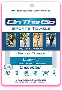 On The Go Towels Unscented Large Bath Wipes (10 Pack) (Waterless Shower compare prices)