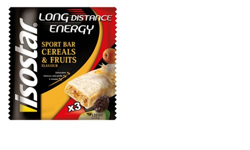 Isostar Long Distance Energy Cereals & Fruits Nutrition Sport Bars - 3 X 40Gr Bars X 3 Packs (Total 9 Bars)