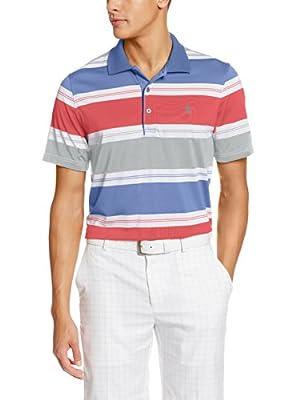 IZOD Men's Short Sleeve Autostripe Golf Polo