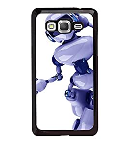 printtech Robot Cool Swag Back Case Cover for Samsung Galaxy Grand Prime G530h