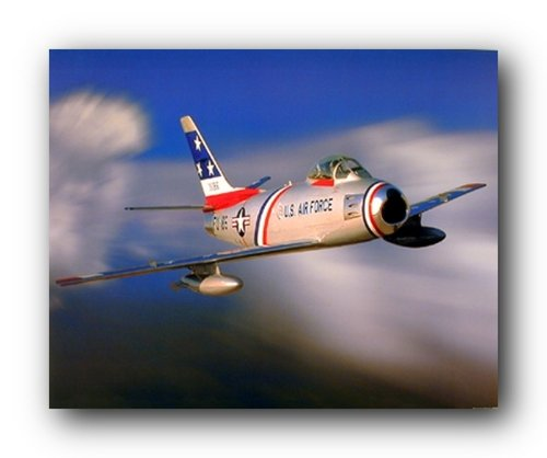F-86 Sabre Jet Military Aircraft Aviation Wall Decor Art Print Poster (16x20)