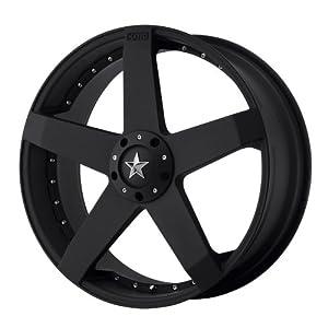 "KMC Wheels KM775 Rockstar Car Matte Black Wheel (18x8""/5x100, 114.3mm, +42mm offset)"