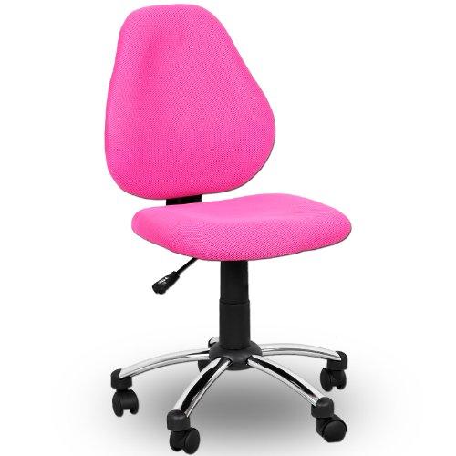 Miganeo-Premium-Kinderstuhl-pink-rosa-Drehstuhl-fr-Kinder-080810