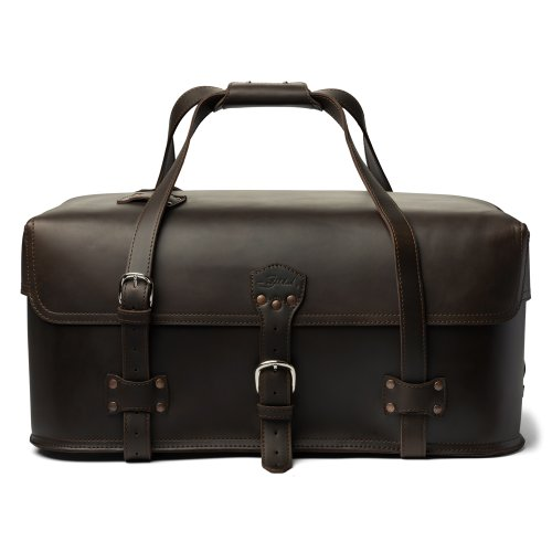 d90ca91bc5  Detail shop Saddleback Leather Large Utility Duffel in Dark Coffee Brown   Full Grain Leather with 100 Year Warranty.