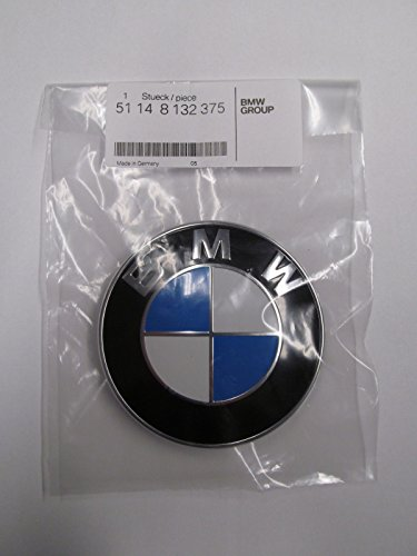 BMW E64 E38 E45 X1 X3 X5 X6 Z3 Z4 HOOD EMBLEM 82mm Germany OEM BMW 51148132375 (Bmw Oem Hood Emblem compare prices)