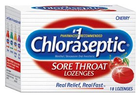 Special Pack of 5 CHLORASEPTIC L oz CHERRY 18 per pack