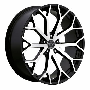 Versante Wheels Ve229 22x9.5 Black Machined Dodge