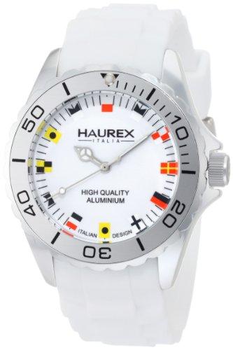 Haurex Italy - 1K374UWF - Montre Homme - Quartz Analogique - Bracelet Silicone Blanc