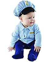 Baby Aspen, Big Dreamzzz Baby Officer, 2-Piece Layette Set, Blue, 0-6 Months