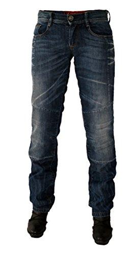 ESQUAD - Pantalon moto jean femme LOUISY - Taille : 30 US / 40 FR - Couleur :...