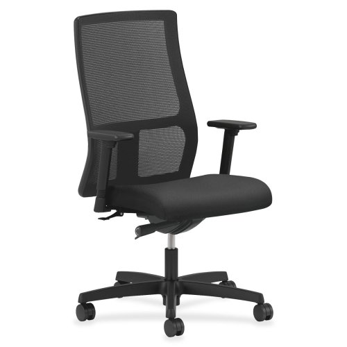 Hon Mesh Mid-Back Task Chair, 27-1/2 by 39-1/2 by 46-Inch, Black