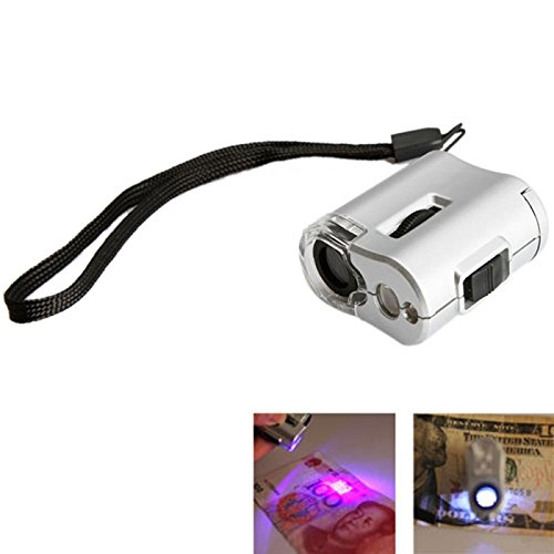 Great Value Loupe & Magnifying Glass 60X Mini Microscope Magnifying Loupe Magnifier With 2-Led Illumination With Money Detecting Uv Light